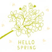 Hello spring — Stock Vector
