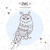 Owl fairy — Stock Vector