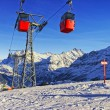 Cable railway on winter sport resort in swiss alps — Stockfoto #57943651