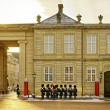 Guard on the square near Royal palace in Denmark — Stock Photo #58977605