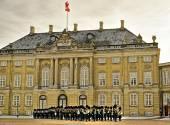 Guard on the square near Royal palace in Denmark — Fotografia Stock