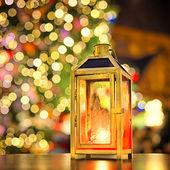Lamp at european Christmas market — ストック写真