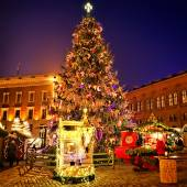 European Christmas market square — Stock Photo