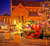 European Christmas market square — Foto de Stock
