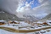 Small french alpine village — Stock Photo