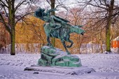 Statue of Valkirie on the horse in Copenhagen — 图库照片