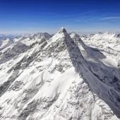 Swiss alpine Jungfrau peak — Stock Photo