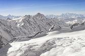 Swiss alpine highland landscape panorama — Stock Photo