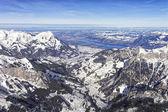 Swiss alpine Jungfrau region and Thun lake landscape  — Stock Photo
