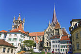 Lausanne Cathedral in summer — Stock Photo