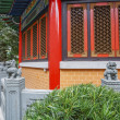 Chinese classic red pagoda style building wall — Stock Photo #68624389