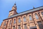Wall and spire of Cathedral of Holy Spirit in Heidelberg — Stock Photo