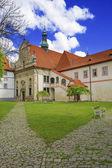 Castle yard in city of Cesky Krumlov — Stock Photo