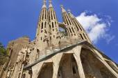 Towers of the Sagrada Familia Cathedral in Barcelona — Stock Photo
