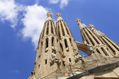 Towers of the Sagrada Familia Cathedral in Barcelona — Стоковое фото