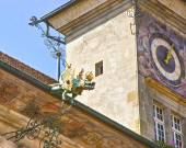 Lausanne City Hall fragment in summer — Stock Photo