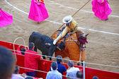 Spanish torero in a bullring — Stock Photo