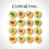 Brazilian carnival icons — Stock Vector