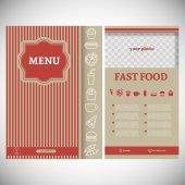 Fast food menu card — Stock Vector