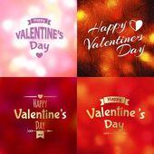 Valentine's Day background set — Stock Vector