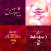 Valentine's Day background set — Stock Vector