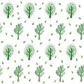 Green trees pattern — Stock Vector