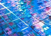 Computer circuit board background microchip texture — Stockfoto