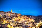 View of Matera at evening, Italy, UNESCO European Capital of Culture 2019 — Stock Photo