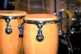Fragment bongos an instrument for percussionists and musicians — Stock Photo