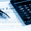 Financial chart and graph near pen and calculator, concept of business — Stock Photo #62015153