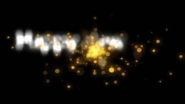 Golden explosion sparkling, holiday new year celebration happy new year 2016 — Stock Video