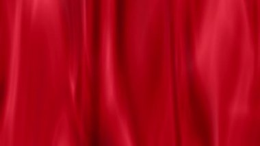 Red draped curtain as background,  seamless loop ready animation — Stock Video