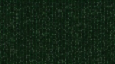 Digital perfectly seamless loop of green matrix numbers background, animation — Stock Video