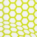 Green and white hexagon wallpaper background — Stock Photo #74058745