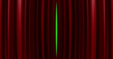 High quality perfectly red curtain opening movement background — Stock Video