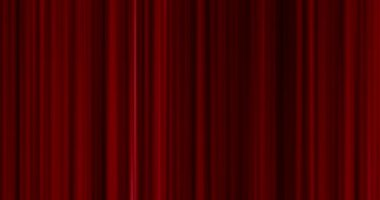 High quality perfectly seamless loop close red curtain movement background — Stock Video