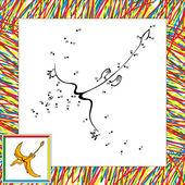 Cartoon pterodactyl dot to dot — Stock Vector