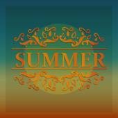 Abstract summer banner — Stock Vector