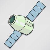 Satellite station, astronaut icon — Stock Vector