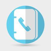 Icône de carnet d'adresse — Vecteur
