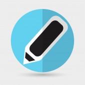 Pera, psaní ikon — Stock vektor