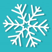 White Christmas snowflake — Stock Vector