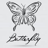 Abstract butterfly symbol — Vector de stock