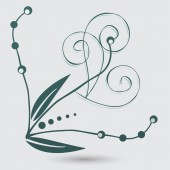 Astrazione floreale, ornamento floreale — Vettoriale Stock
