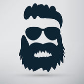 Beard, hipster icon — Stock Vector