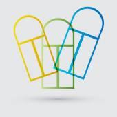 Ikona kolorowy windows — Wektor stockowy