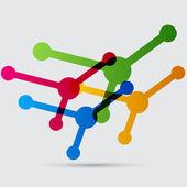 Molecule, atom, science icon — Stock Vector