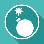 Bomb, explosive icon — Stock Vector
