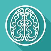 Icon of brain, mind — Stock Vector