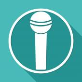 Microphone, singing icon — Stock Vector